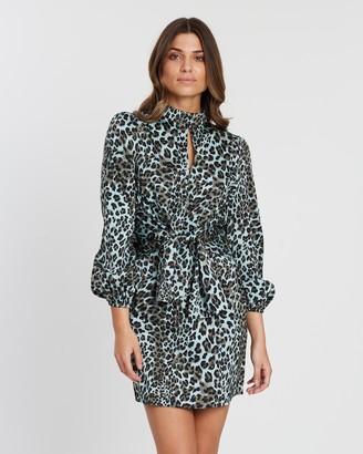 Atmos & Here Leopard LS Dress