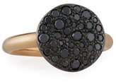 Pomellato Sabbia 18k Rose Gold & Black Diamond Ring, Size 54