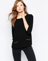 B.young Boxy Top With Front Zips