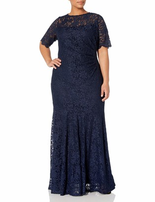 Decode 1.8 Women's Short Sleeve Plus Size Lace Dress