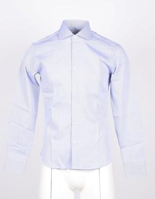 Takeshy Kurosawa Light Gray Cotton Men's Dress Shirt