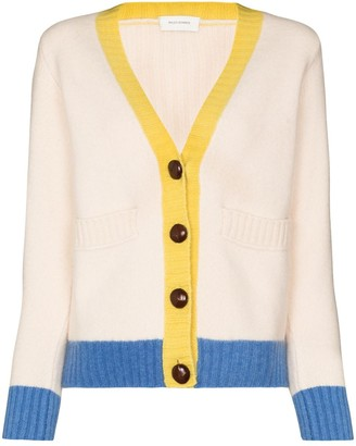 Wales Bonner Johnson V-neck wool cardigan