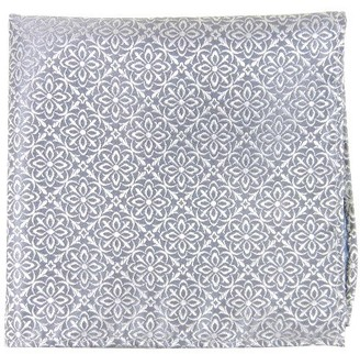 Tie Bar Opulent Silver Pocket Square
