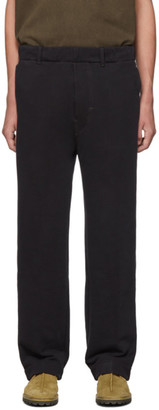 Lemaire Black Jersey Chino Lounge Pants
