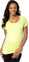 Motherhood Baby Love Maternity Burnout Tee