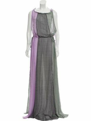 Lela Rose 2018 Silk Maxi Dress Purple