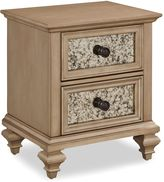 Home Styles Visions 2-Drawer Night Stand in Silver