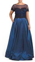 Plus Gown With Illusion Bodice