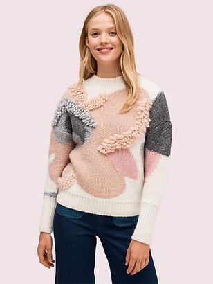 Kate Spade Textured Bloom Sweater