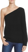 Olivaceous One Shoulder Sweater