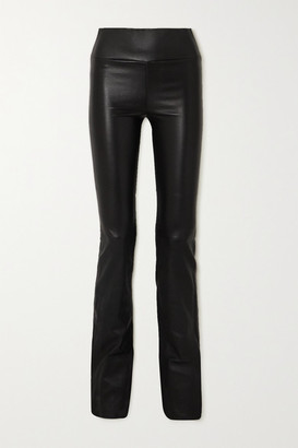 Sprwmn Leather Flared Leggings - Black