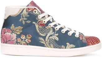 adidas Floral Jacquard Hi-Top Sneakers