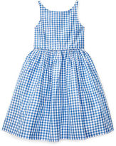 Ralph Lauren Sleeveless Gingham Silk Dress