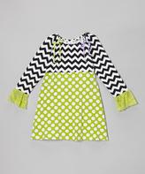 Flap Happy Kiwi Punch Polka Dot Peasant Dress - Infant, Toddler & Girls