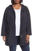 MICHAEL Michael Kors Plus Size Women's Hooded Drawstring Coat
