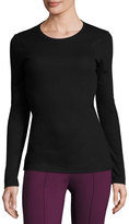 BCBGMAXAZRIA Lace-Back Long-Sleeve Tee, Black