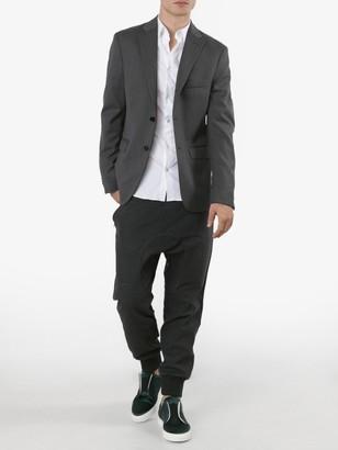 Acne Studios Dark Grey Wool Relaxed Suit Jacket Grey