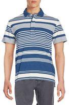 Billy Reid Variegated Stripe Polo Shirt