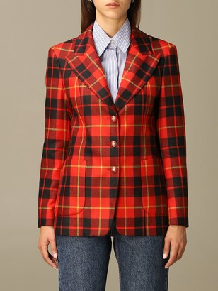 Etro Blazer Tailored Jacket In Check Wool
