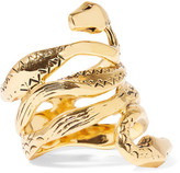 Aurelie Bidermann Mamba Gold-plated Ring - 54