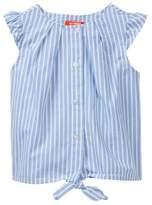 Joe Fresh Striped Tie Ruffle Blouse (Toddler & Little Girls)