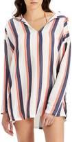 Onia Sophia Stripe Hooded Cover-Up Tunic