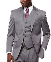 Izod Gray Striped Suit Jacket