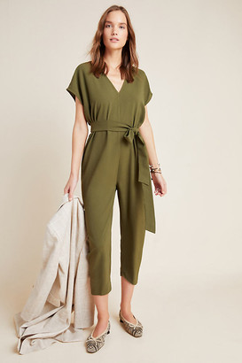 d.RA Dawn Cropped Petite Jumpsuit By in Green Size S P