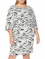 Thumbnail for your product : Gina Bacconi Women's Riona Zebra Print Dress Cocktail