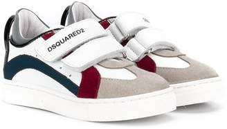 DSQUARED2 logo touch-strap trainers