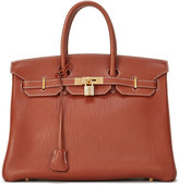 Hermes Vintage Brique Birkin Leather Satchel Bag, Brown