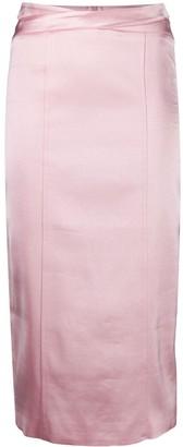 GAUGE81 Metallic-Effect Pencil Skirt