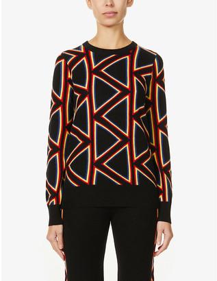 Madeleine Thompson Beethoven geometric-pattern cashmere jumper