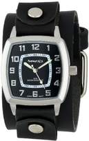 Nemesis Men's LBB017K Vintage Collection Black on Black Leather Band Watch