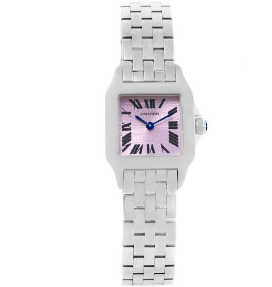 Cartier Santos W2510002 Demoiselle Stainless Steel Purple Dial 20mm Womens Watch