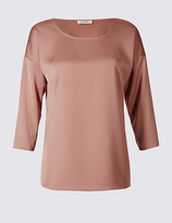 Classic Round Neck 3/4 Sleeve T-Shirt