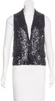 Alice + Olivia Embellished Notch-Lapel Vest