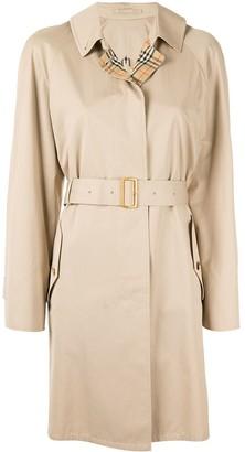 Belted Short Rain Coat
