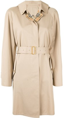 Burberry Pre Owned Belted Short Rain Coat