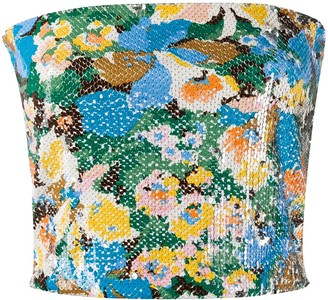 M Missoni Cropped Sequinned Top