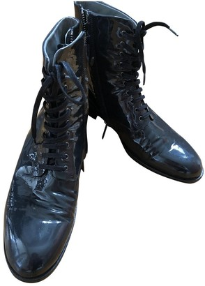 Jil Sander Grey Patent leather Ankle boots