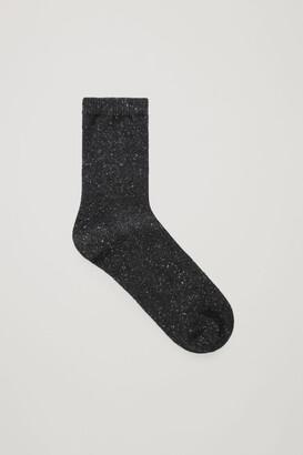 Cos Speckled Wool-Silk Socks
