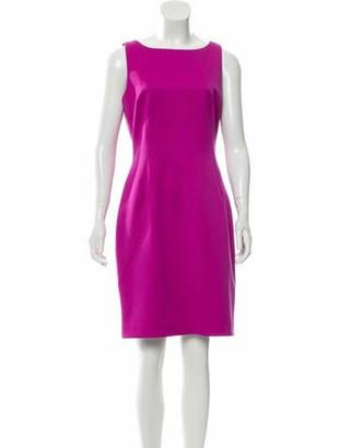 Dolce & Gabbana Virgin Wool Knee-Length Dress Purple
