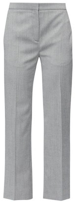 Alexander McQueen High-rise Herringbone-wool Trousers - Black White