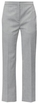 Alexander McQueen High-rise Herringbone-wool Trousers - Womens - Black White