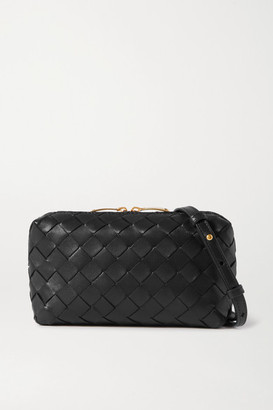 Bottega Veneta Small Intrecciato Leather Shoulder Bag - Black