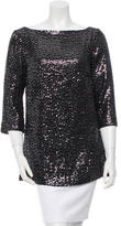 Tory Burch Silk Sequined Top