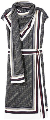 Proenza Schouler Sleeveless Printed Scarf Dress