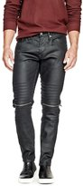 GUESS Factory Moto Slim Tapered Jeans