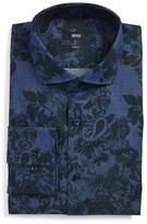 BOSS Slim Fit Floral Dress Shirt